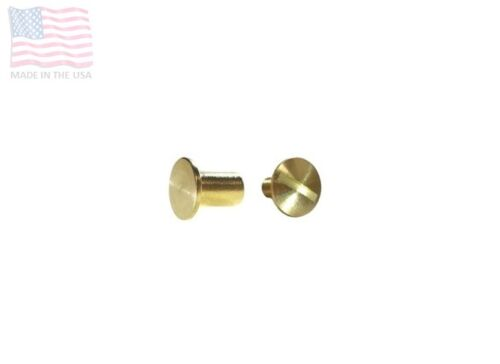 "5 Sets Brass Craft DIY 1//4/"" 6mm #4 Mini Chicago Screws /& Post w// Flat Head"