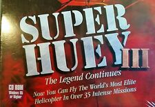Super Huey III 3 The Legend Continues PC Computer CD Helicopter Video Game NEW!
