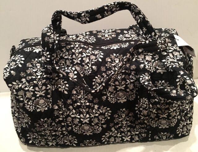 Vera Bradley Chandelier Noir Small Duffel Gym Weekender Bag Tote