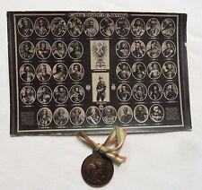 TALIAN MEDAL POSTCARD KINGDOM ITALY JUBILEE NEW YORK MILITARY VETERAN WWI 1925
