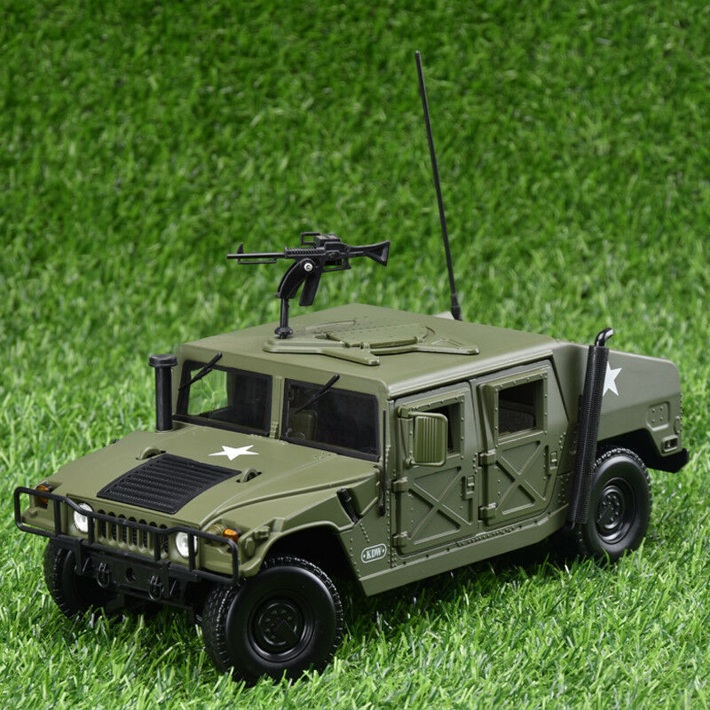 1 18 Model Cars Hummer Diecast Military Army Battlefield Vehicle Collection Gift