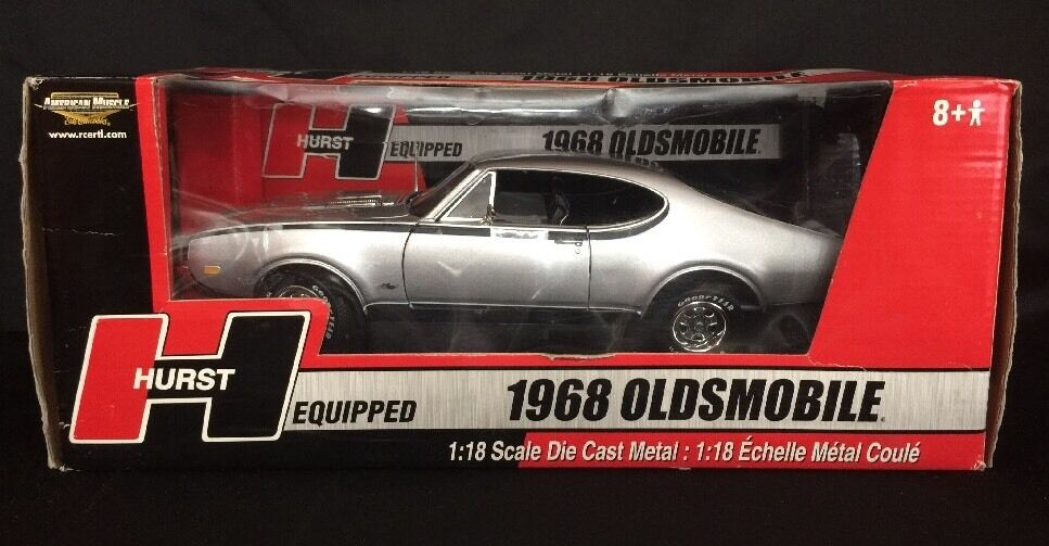 1 18 American Muscle Rare 1968 Oldsmobile Hurst Equipped Silver W  Black Int NIB