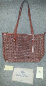 72aa74d80797 Image is loading PATRICIA-NASH-Heritage-Viotti-Woven-Braid-Leather-Tote-