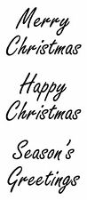 Christmas Greetings med unmounted rubber stamp - SA7191