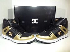 DC Shoes Women's Size 8 Rebound Hi SE Black Gold Skateboarding Sneakers ZJ-566
