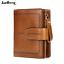 Women-Genuine-Leather-Wallet-Bifold-Credit-Card-ID-Holder-Zipper-Retro-Purse-Hot thumbnail 1