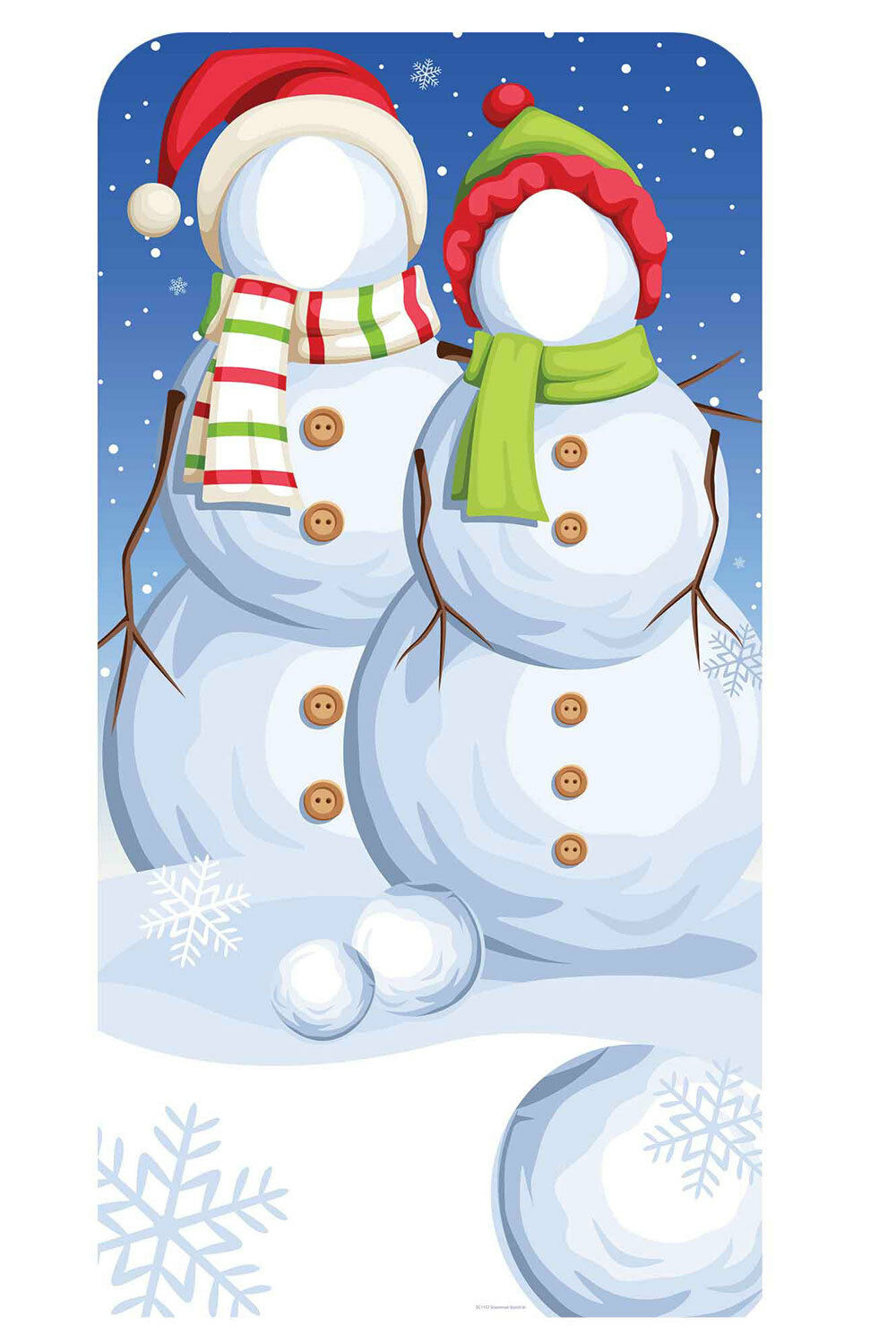 Christmas Snowmen Stand-In Cardboard Cutout   Standup  - Xmas Party Photos