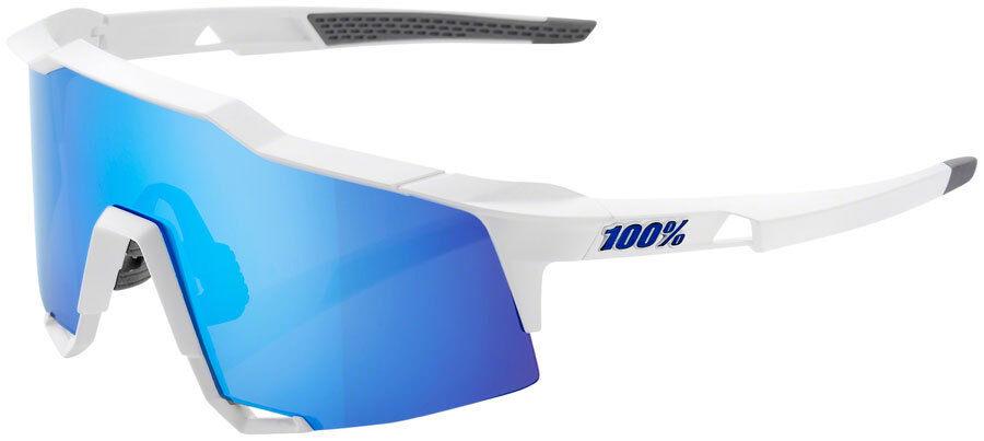 100% Speedcraft Occhiali da Sole Opaca : Opaca Sole Cornice Bianca Hiper Blu Multistrato 0ff17c