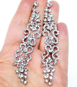 Chandelier-Earrings-Rhinestone-Clear-Crystal-4-inch
