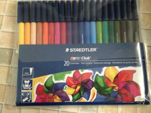 Art Nr Staedtler Noris Club Fibre Tip 20 color pens 326 WP20 Free Postage