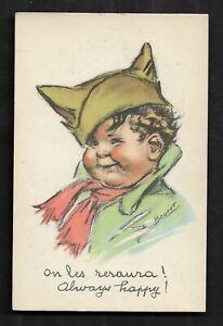 Carte-Postale-Signe-Germaine-BOURET-SUPERBE-TRES-BON-ETAT-Dim-9-X-14-Cm
