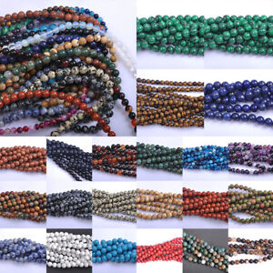 Series-Lots-Natural-Gemstone-Spacer-Loose-Beads-4mm-6mm-8mm-10mm-Stone-DIY-Beads