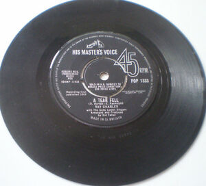RAY-CHARLES-7-034-45-034-A-TEAR-FELL-NO-ONE-TO-CRY-TO-034-1964-HMV-UK