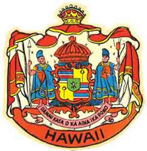 Hawaiian Crest   Vintage Style  Surfing Travel Decal sticker Hawaii