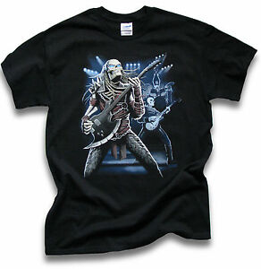 Mens-Black-T-Shirt-Biker-Goth-Predator-Rock-Sm-3XL-Front-or-Rear-Screen-Print