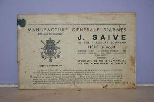 Ancienne PublicitÉ Et Tarif Pour Armes De Chasse .