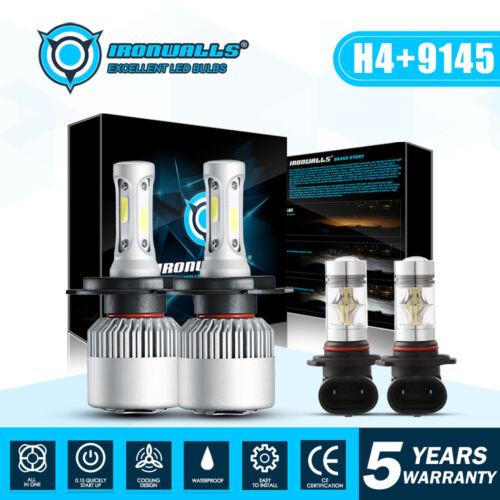 4x H4 9003 LED Headlight+9145 Fog Lights Combo Pack For Toyota Tacoma 2005-2011