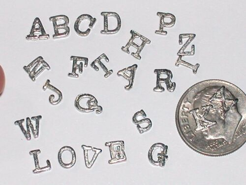 1pc Tiny Little Letter alphabet floating miniatures words Love wisdom charms NEW