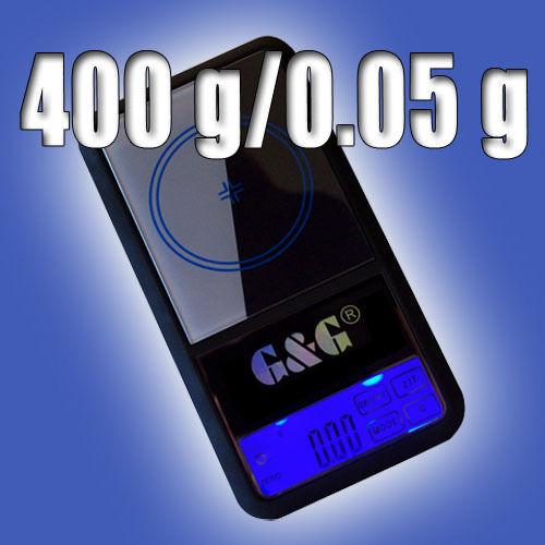 G&G AS 400g/0,05g Feinwaage Goldwaage Taschenwaage Waage