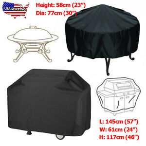 Charmant Imperméable Barbecue Grill Cover Round Fire Pit Barbecue Protecteur Home Patio Jardin-afficher Le Titre D'origine