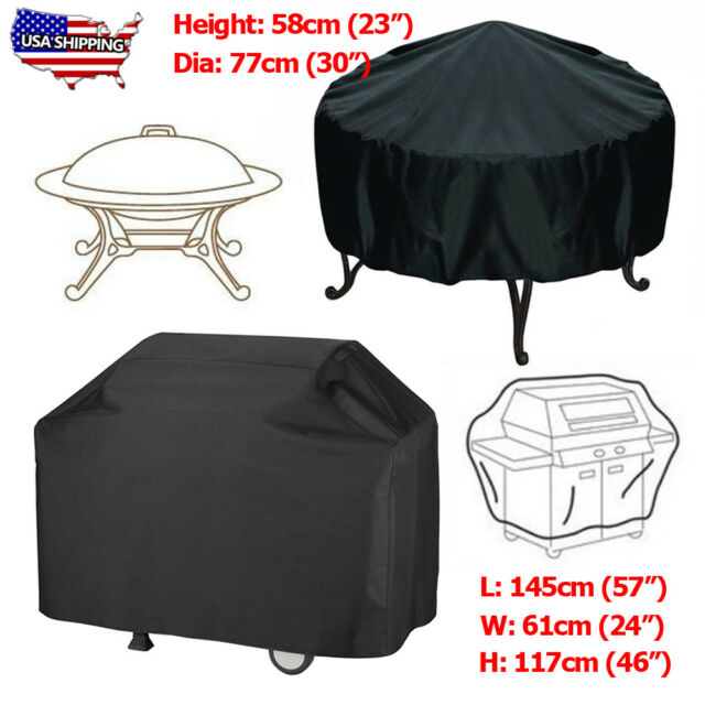 Magma Black Sunbrella Waterproof Round Kettle Original BBQ Grill Cover//Tote Bag