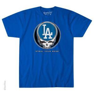 GRATEFUL-DEAD-LOS-ANGELES-DODGERS-STEAL-YOUR-BASE-TSHIRT-S-M-L-XL-2X-Garcia-Wier