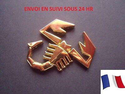 SCORPION ABARTH Logo//insigne//Emblème en métal à coller.Pour FIAT Punto 500 NEUF