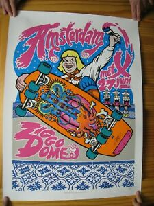 Pearl-Jam-Poster-Silk-Screen-Amsterdam-June-27-Creepy-Skateboarder-Ziggo-Dome