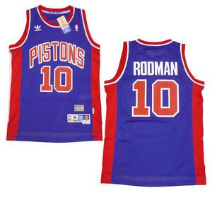 10#//Dennis Rodman #10 Detroit Pistons Retro Swingman Jersey