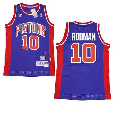 New Men/'s Detroit Pistons #10 Dennis Rodman Basketball Jersey Mesh White