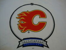 NHL Calgary Flames Hockey League Fan 1989 Stanley Cup Champs Throwback T Shirt L