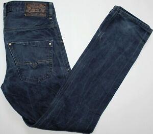 DIESEL-Krooley-0801W-Jeans-SLIM-CAROTA-32-con-32-L-Denim-Blu-Scuro-LINEA-UOMO