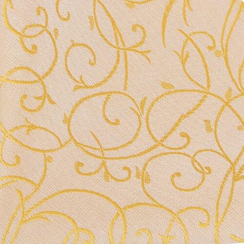 DQT Woven Swirl Patterned Gold Formal Mens Wedding Waistcoat S-5XL