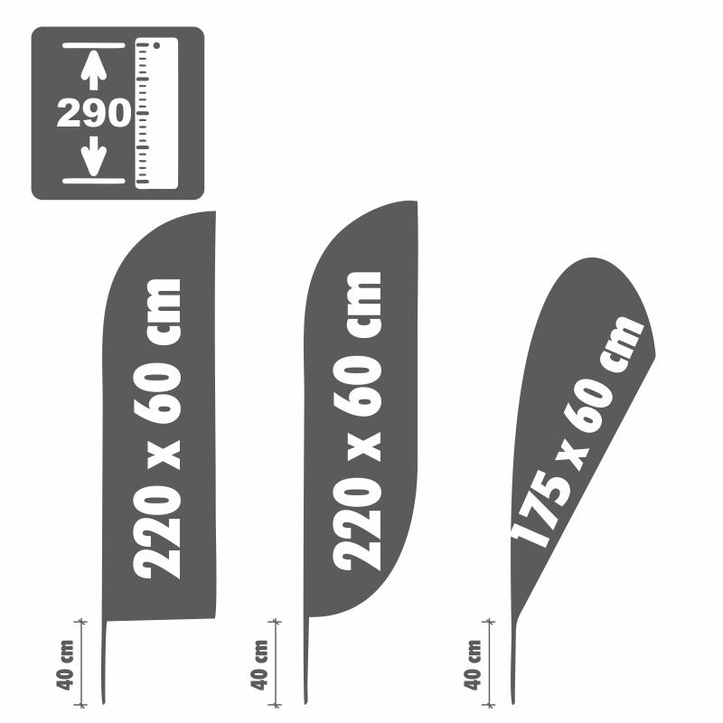 Beachflag incl. diseño, nuevos con motivo: apertura de nuevos diseño, (wtn-03) 7102d8