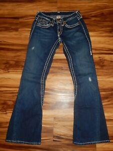 True-Religion-Size-26-Joey-Super-T-Distressed-Blue-Jeans