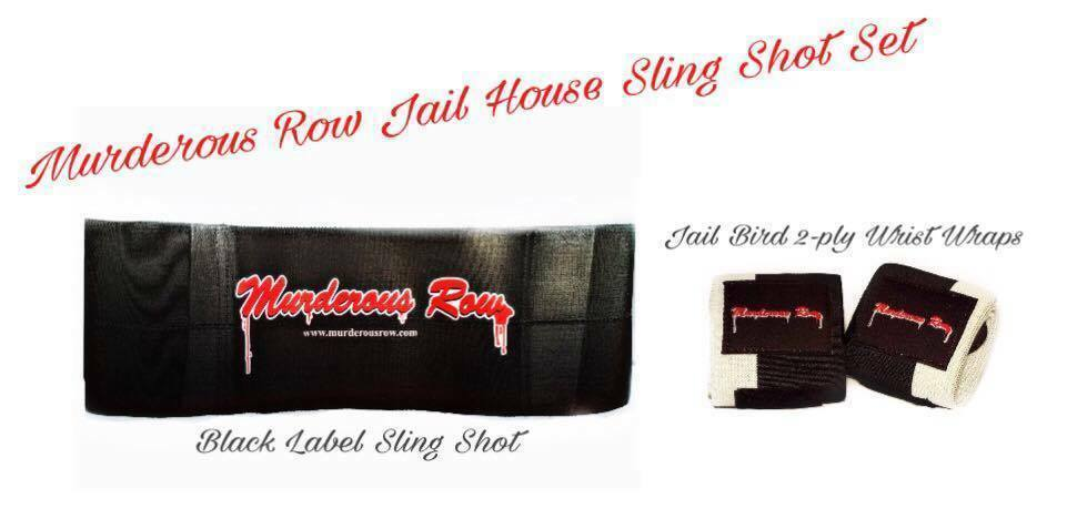 MURDEROUS ROW Bench Press Sling  Shot + Jail Bird 2-Ply Extreme Wrist Wraps  shop makes buying and selling