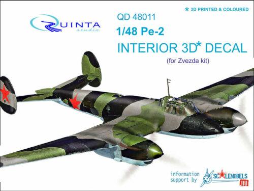 Quinta QD48011 1//48 Pe-2 3D-gedruckte und farbige Innenausstattung für das...
