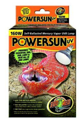 Zoo Med Powersun Uv Lamp 160 Watt Mercury Vapor Uvb Ebay