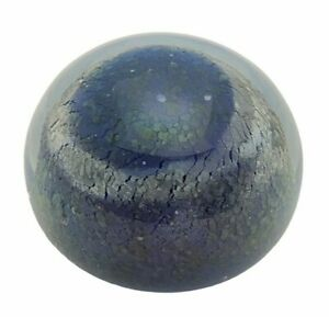 Iridescent-Cosmo-Blue-Blown-Art-Glass-Paperweight-Brent-Cox-Signed-1987