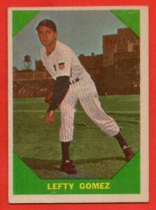 1960 Fleer #54 Lefty Gomez EX-EX+ WRINKLE New York Yankees HOF FREE SHIPPING