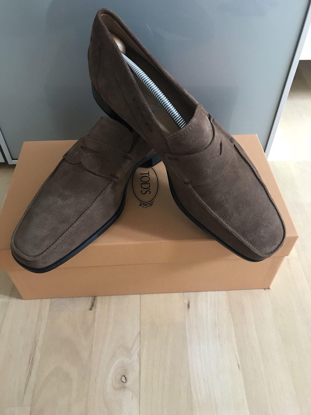 Tods Loafers Veloursleder Gr 8 1x getragen NP 390
