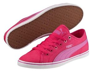 085c4750c4b Image is loading PUMA-Elsu-v2-Pink-Canvas-Ladies-Shoes-sizes-
