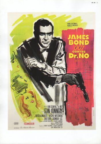 "2002 Vintage JAMES BOND /""CONTRE DR NO/"" FRENCH MINI POSTER Art Plate Lithograph"