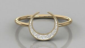 0-07Ct-Round-Cut-Natural-Diamond-Half-Moon-Shape-Wedding-Band-9kt-Solid-Gold