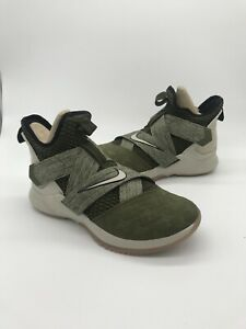 556046804f16 Nike Men s LeBron Soldier XII Basketball Shoes Olive AO2609 300 Sz ...