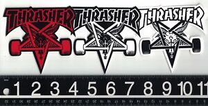 THRASHER-MAGAZINE-STICKER-Thrasher-Skategoat-Sticker-Red-White-or-Black-Decal