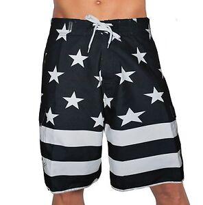 987dbde98e Image is loading USA-AMERICAN-BLACK-FLAG-PATRIOTIC-BOARD-SHORTS-FREEDOM-