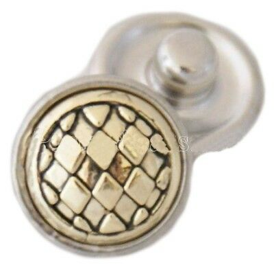 Rose Gold Flower Red Bead 12mm Mini Petite Snap Button Charm For Ginger Snaps