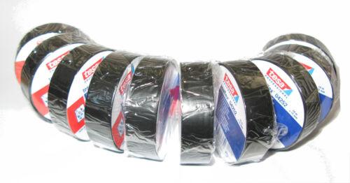 3x TESA Isolierband 15mm x 10m bis 5000V einzeln verpackt schwarz Tape Isoband