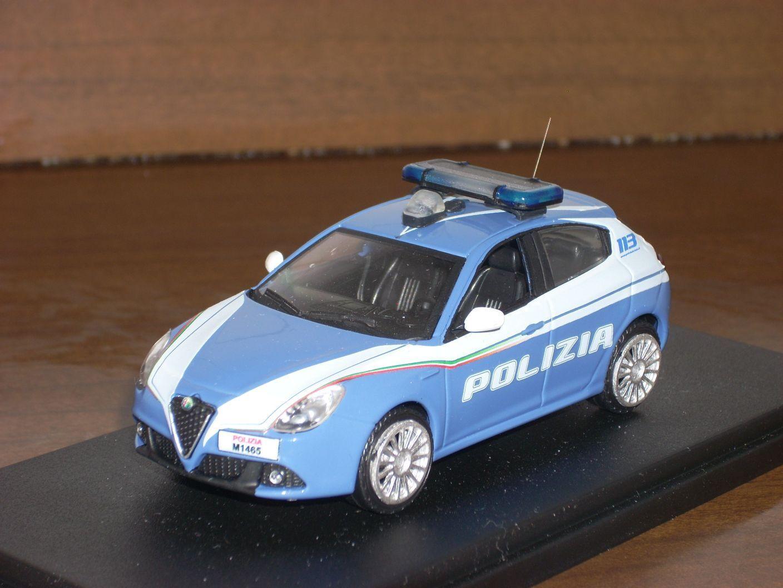 POLIZIA POLICE Alfa Romeo Giulietta 2018 volante  1/43
